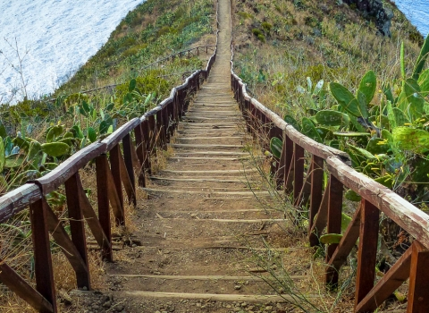 Escaliers du Miradouro do Cristo Rei, Madere